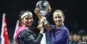 SANIA MIRZA OF INDIA & CARA BLACK OF ZIMBAWE WIN THE WTA YEAR END DOUBLES TENNIS CHAMPIONSHIPS IN SINGAPORE thumbnail