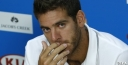 JUAN MARTIN DEL POTRO PULLS OUT OF THE AUSTRALIAN OPEN AFTER PAIN RETURNS TO HIS WRIST , HIS FLIGHT WAS 22 HOURS IS THAT GLAMOROUS ? TENNIS IS A BRUTAL SPORT & THEN SOME thumbnail