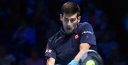 DJOKOVIC MAKES QUICK WORK OF GOFFIN, BRYAN BROTHERS SECURE SEMIFINAL SPOT AT BARCLAYS ATP WORLD TOUR FINALS thumbnail