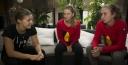 "BELGIAN TENNIS STAR KIRSTEN ""FLIP"" FLIPKENS DESIGNS TENNIS CLOTHES FOR FED CUP TEAM thumbnail"