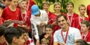 TENNIS • 10SBALLS SHARES A PHOTO GALLERY FROM THE BASEL INDOORS • ROGER FEDERER EATS PIZZA WITH BALLKIDS thumbnail