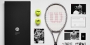 WILSON TENNIS MAKES A PLATINUM RACKET FOR THE ROGER FEDERER FOUNDATION IN HONOR OF • 20TH GRAND SLAM TITLE & SELLING 20 AUTOGRAPHED FRAMES FOR 20 BIG ONES thumbnail