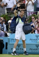 ANDY MURRAY ASSESSES COMEBACK, AS HE LOSES TO HIS FRIEND NICK KYRGIOS IN FEVER-TREE TENNIS AT QUEENS CLUB IN LONDON thumbnail