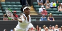 VENUS WILLIAMS RALLIES INTO WIMBLEDON THIRD ROUND • SO DOES LITTLE SIS AND NEW MOM SERENA thumbnail