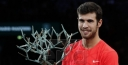 ATP PHOTO GALLERY FROM THE ROLEX PARIS MASTERS TENNIS FINAL BETWEEN KHACHANOV & DJOKOVIC thumbnail